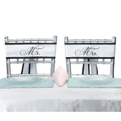 Fasce da sedia con scritta Mr e Mrs