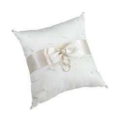 Cuscino con perle in avorio