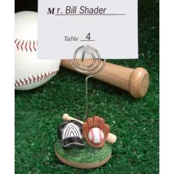 Porta segnaposto a tema baseball