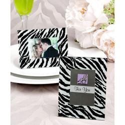 Cornice zebrata segnaposto o portafoto