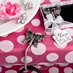Portaborsa da tavolo con gancio a farfalla