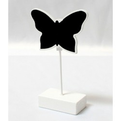 Segnaposto a forma di farfalla con base in gesso bianco