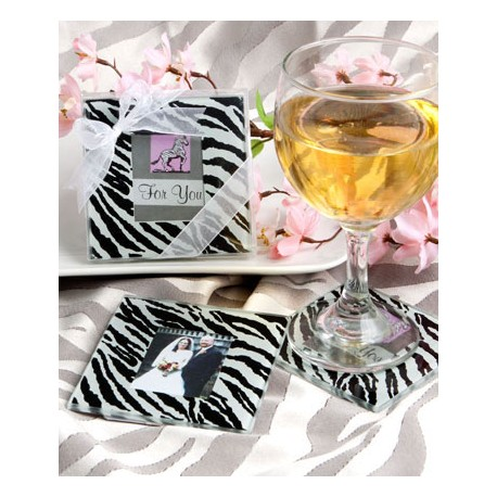 Set di sottobicchieri portafoto zebrati