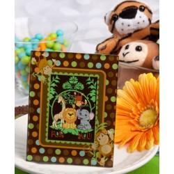 Cornice portafoto con scimmiette e pois colorati