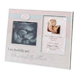 Portafoto rosa a tema nascita bambina