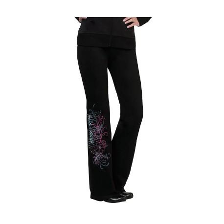 Pantaloni neri taglia large per la sposa