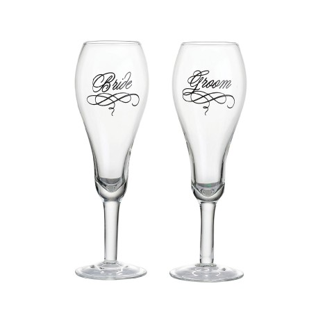 Bicchieri per sposa e sposo