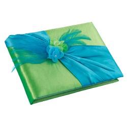 Libro degli ospiti blu e verde