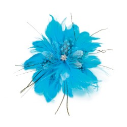 Clip per capelli con fiore azzurro