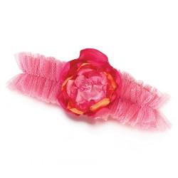Giarrettiera rosa con fiore
