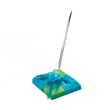 Penna con base blu e verde