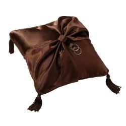 Cuscino porta fedi marrone