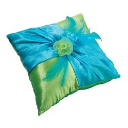 Cuscino porta fedi blu e verde