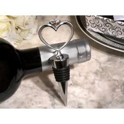 Stopper da vino a forma di anello a cuore