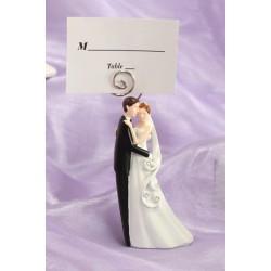 Segnaposto con statuetta degli sposi