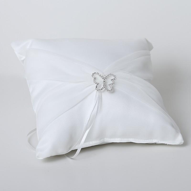Cuscini Porta Fede.Cuscino Portafedi Bianco Con Fibbia A Forma Di Farfalla