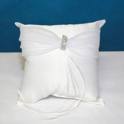 Cuscino portafedi bianco con strass