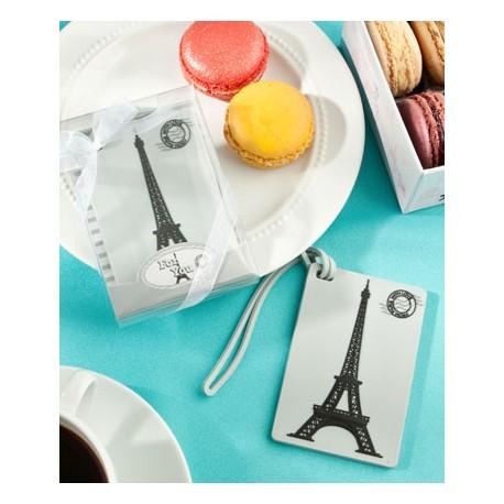 Etichetta per i bagagli con la Tour Eiffel