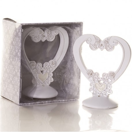 Elegant Epoxy Heart Design Cake Topper