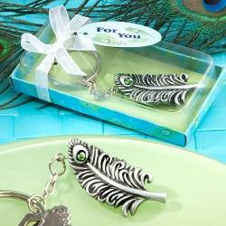 Peacock Feather Key Chain Favors