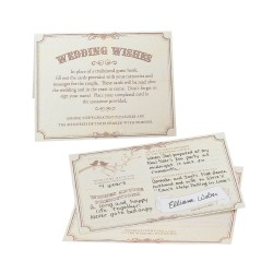 Biglietti di auguri matrimonio beige 48 pezzi