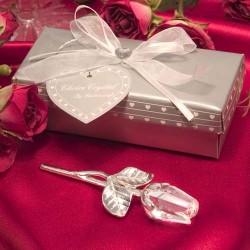 Rosa di cristallo dallo stelo lungo
