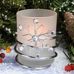 Portacandele con fiocco di neve