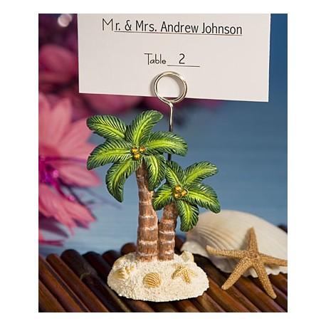 Segnaposto e segnatavolo con palma tropicale
