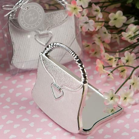 Specchietto a forma di borsetta elegante