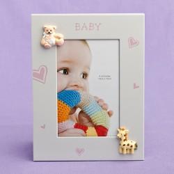 Cornice a tema bambina con cuoricini ro