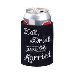 Coprilattina con scritta Eat Drink and Be Married