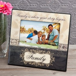 Cornice per foto con scritta Family