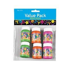 Pack Of 6 Mini 60 S Bubble Bottles