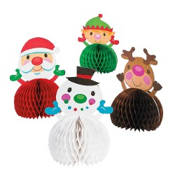Pack Of 4 Cheery Christmas Centerpieces