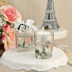 Portacandele a tema Parigi con Tour Eiffel