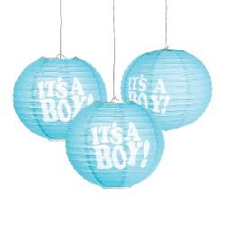 Lanterne azzurre it's a boy 3 pezzi