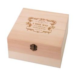 Scatoletta vintage in legno naturale a tema true love