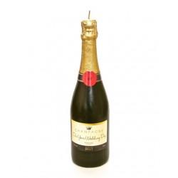 Candela a forma di bottiglia di champagne per matrimonio
