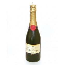 Candela a forma di bottiglia di champagne per fidanzamento