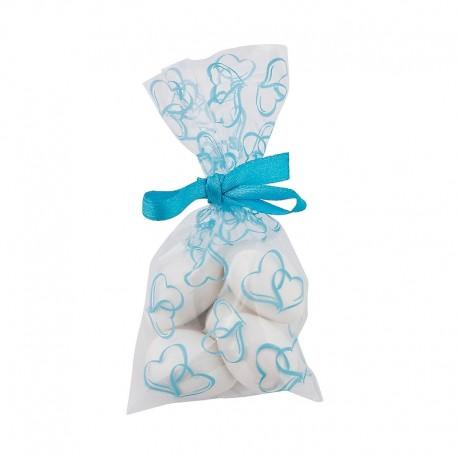 Sacchettino con cuori blu