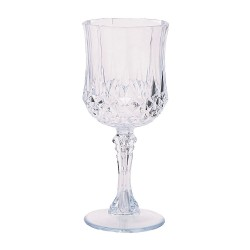 12 X Clear Patterned Wine Glasses