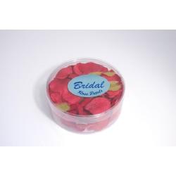 Petali di rosa satinati rosso intenso