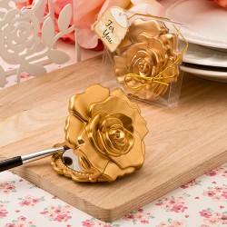 Specchietto con rosa dorata