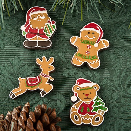 Gingerbread Themed Christmas Holiday Magnets