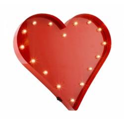 Luce led rossa a forma di cuore