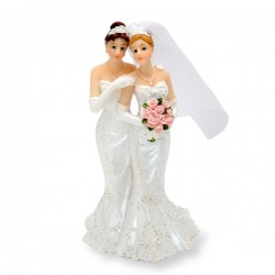 2ce92f5881f8 Same Sex Wedding Mrs And Mrs Cake Topper Two Brides In Wedding Dresses