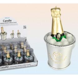 Candela a forma di bottiglia di champagne