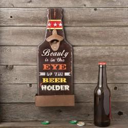 Apribottiglie con cartello per birre