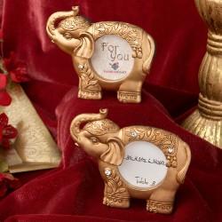 Segnatavolo dorati con elefante indiano
