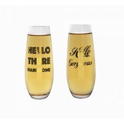 Bicchieri da birra con frase set 2 pezzi